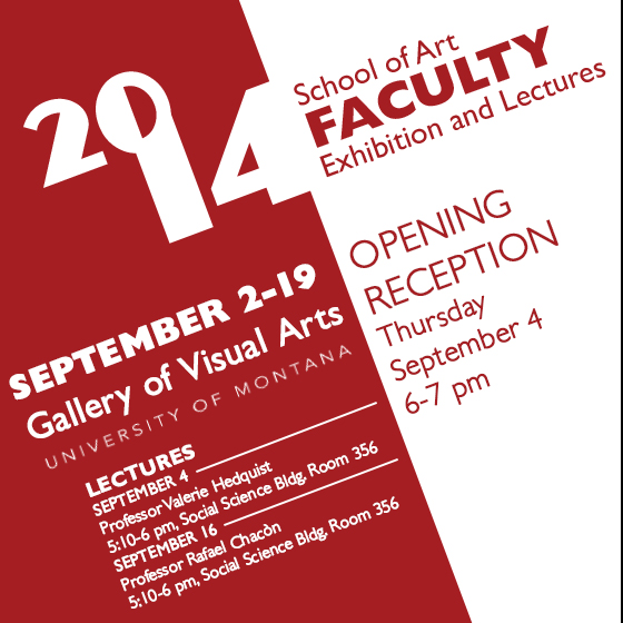 Faculty Exhibition, Lecture, and First Friday!