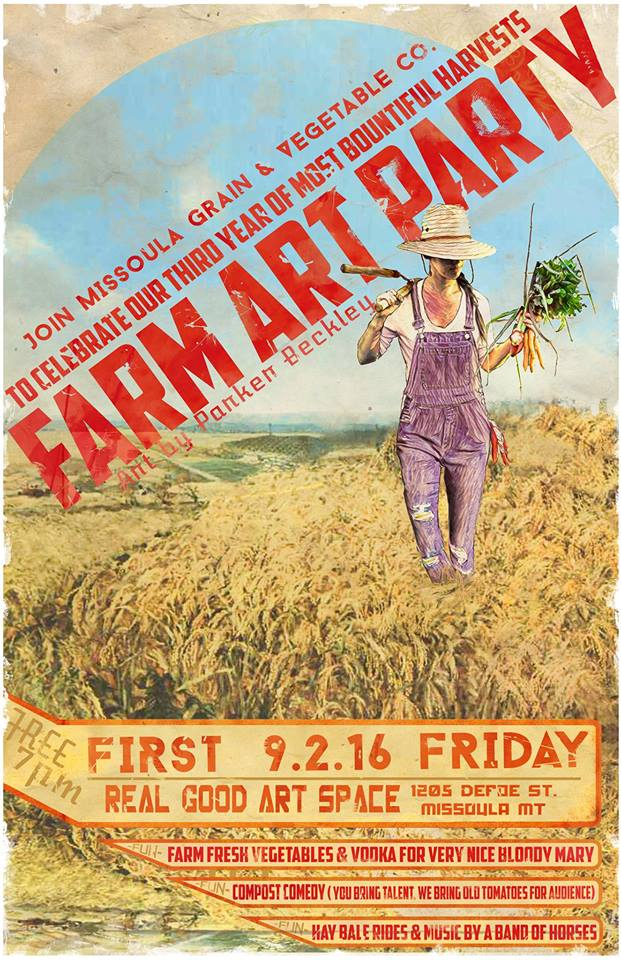 Farm Art Party Poster